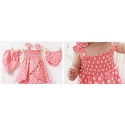Sleeveless Polka Dot Dress Sets