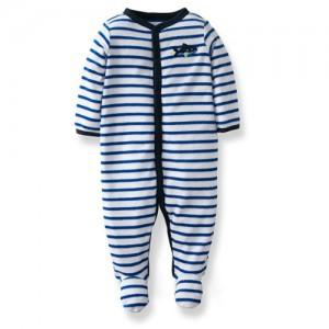 Blue Striped Whale Jumpsuit