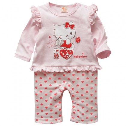 Hello Kitty Pink Love Rompers
