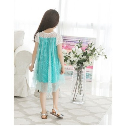 Blue Princess Lace Dress