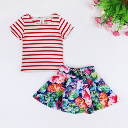 Floral Skirt Girl Sets