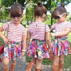 Floral Skirt Girl Sets